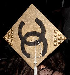 FIDM 2011 Graduation - Decorated Mortar Boards - Staples Center, Los Angeles, California