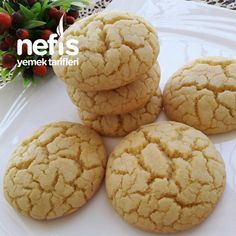 Turkish Cookies, Sable Cookies, Most Delicious Recipe, Tasty, Yummy Food, Holiday Cakes, Turkish Recipes, Easy Cooking, No Bake Desserts