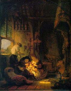 Rembrandt Holy Family painting for sale - Rembrandt Holy Family is handmade art reproduction; You can buy Rembrandt Holy Family painting on canvas or frame. List Of Paintings, Great Paintings, Hieronymus Bosch, Caravaggio, Amsterdam, Mother Mary Images, Rembrandt Paintings, Art Occidental, Culture Art