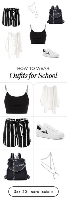 """""""School """" by u-klimaite on Polyvore featuring Venus, Alexander Wang and Chicwish"""