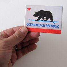 Ocean Beach Republic Magnet