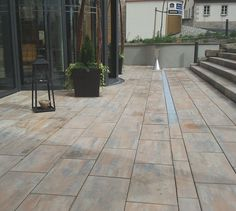 Steinplattenterrasseterrassenplattengrossegranitholzkiesbb - Terrassenplatten holzoptik 4cm