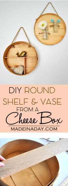 DIY Round Shelf and