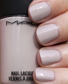 MAC Light Affair Perfect for my short nails Nails Only, Love Nails, Pretty Nails, My Nails, Mac Nail Polish, Nail Polish Trends, Nail Polishes, Mac Light, Light Colored Nails