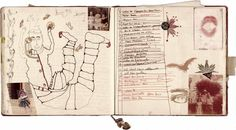 Pages from the artist Janice Lowry's sketchbook journal, 2003.