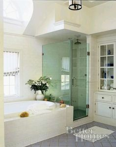 bathroom with built in storage