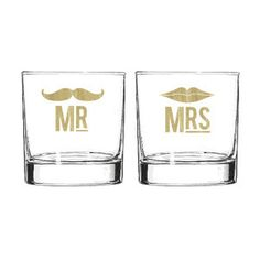 Cheeky his-and-hers cocktail glasses