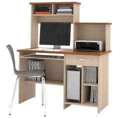 Poste de travail informatique compact de Bestar (86450) - Brun : Bureaux - Future Shop