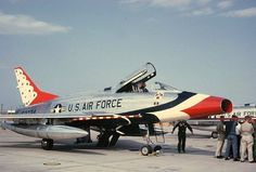 North American F-100 Super Sabre in USAF Thunderbirds' paint scheme