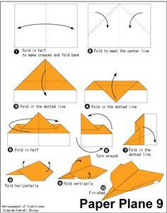Origami Paper Plane 9