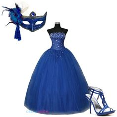 """Masquerade Ball Blue"" by kelsy-flanders on Polyvore"