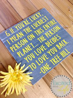 Hey, I found this really awesome Etsy listing at https://www.etsy.com/listing/385070116/lucky-and-in-love-sign-one-tree-hill-tv