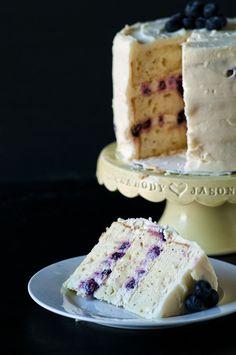 Lemon-Blueberry Poppyseed Cake