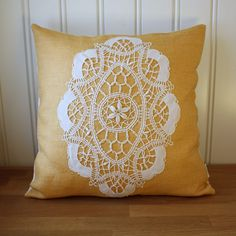 doily pillow #diy #sewing #lace