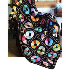 Vintage Crochet Pattern Color Wheel Afghan by 2ndlookvintage