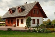 House in Bohemian Paradise Modern Barn House, Chalet Style, Little Houses, Traditional House, Exterior Design, Architecture Design, Sweet Home, Home And Garden, Cottage