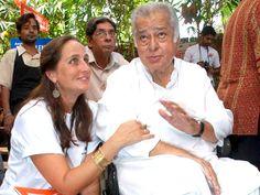 Baba ile Sanjana Kapoor Shashi Kapoor
