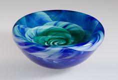 Rose Bowl: Mark Rosenbaum: Art Glass Vessel | Artful Home