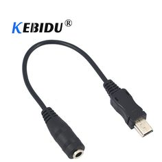 kebidu mini usb male to 3 5mm jack female audio cable cord for active clip  mic