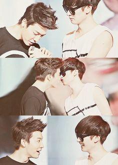 Super Junior eunhae Eunhyuk & donghae visit kpopcity.net ..my heart someone help me