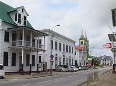 Unlike other South American capitals, Paramaribo is laid back and easy to walk around. Feels like an old colonial town. South American Capitals, Colonial, Most Beautiful, Feels, Street View, Easy