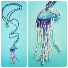 Portuguese Man-o-War necklace. Bluebottle / by KatieElizabethONeil