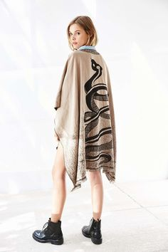 Eve Snake Poncho - Urban Outfitters