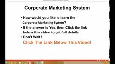 Corporate Marketing System