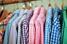 Gingham shirts galore!