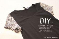 DIY Camiseta con mangas de lentejuelas ;D
