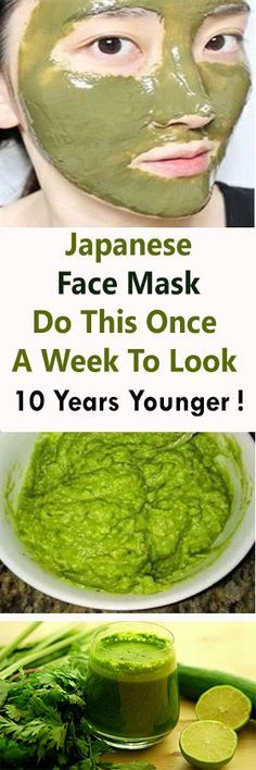 Japanese Face Mask: Do This Once A Week To Look 10 Years Younger ! – Healthy Live