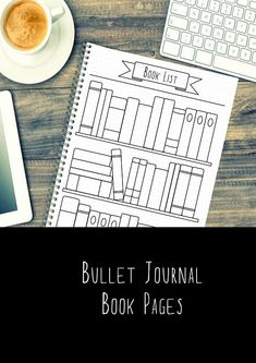 Bullet Journal Pages Book Reading A5 A4 US letter