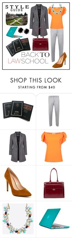 """""""Back to Law School"""" by sarina-noel ❤ liked on Polyvore featuring Le Ciel Bleu, BCBGeneration, McKleinUSA, Speck and West Coast Jewelry"""