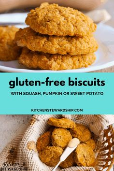 Use up that random cup of pumpkin or squash with these gluten-free biscuits. They make a great seasonal recipe for fall and healthy side dish!