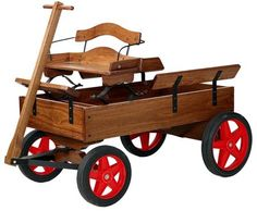 Kids Wagons, our wagon kits make great Grandfather handcrafted projects. Every kid needs a wagon! Kids will spend hours using their wagon as imaginary army jeeps, princes doll carriages or just to haul around the family pet. Woodworking Projects For Kids, Woodworking Kits, Wood Projects, Woodworking Bench, Kids Wagon, Toy Wagon, Wooden Wagon, Wooden Cart, Cottage Crafts