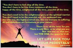 Jeff Foster, let life kick you off your pedestals
