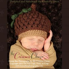 Acorn Cap Hat  Baby Hat Pattern Crochet by MyCrimsonClover on Etsy, $5.00