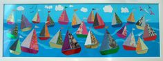 Cute Idea -- this could be even more personalized/creative by having the kids create the artwork for the sails -- watercolor, perhaps?