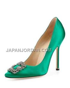 https://www.japanjordan.com/manolo-blahnik-hangisi-crystalbuckle-satin-pump-green.html オンライン MANOLO BLAHNIK HANGISI CRYSTAL-BUCKLE SATIN PUMP 緑 Only ¥20,805 , Free Shipping!