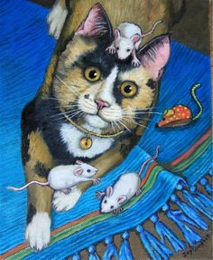 """Mouse Problems"" - Original Fine Art for Sale - © Joy Campbell"