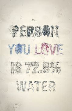 The Person You Love Is 72.8% Water Framed Art Print by Teagan White | Society6