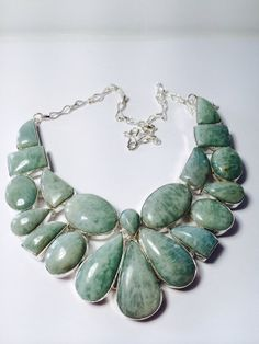 Rare Huge Amazonite & 925 Sterling Silver by WildRoseHollow, $62.00