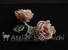 Beautiful tatted roses.