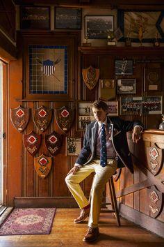 Jack Carlson, author, international rowing champion, and tie designer.