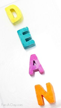 Fun science activities for kids - including colorful and foaming names