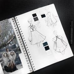Fashion Illustration Patterns Fashion research book, fashion illustrations. Fashion Portfolio Layout, Fashion Design Sketches, Portfolio Design, Branding Portfolio, Graphic Portfolio, Portfolio Ideas, Artist Portfolio, Vintage Vogue Fashion, Sketchbook Layout