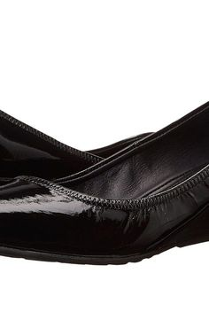 Cole Haan Tali Lux Wedge (Black Patent) Women's Wedge Shoes - Cole Haan, Tali Lux Wedge, W01606-001, Footwear Closed Wedge, Wedge, Closed Footwear, Footwear, Shoes, Gift - Outfit Ideas And Street Style 2017