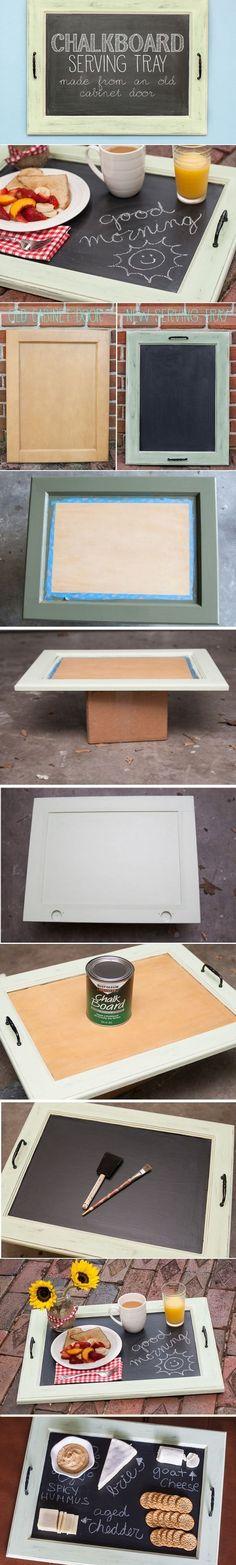 DIY Chalkboard Serving Tray