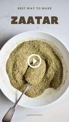 A simple, authentic Lebanese Zaatar Spice Blend (za'atar) – an earthy, herby savoury Middle Eastern spice blend for a variety of dishes Middle East Food, Middle Eastern Dishes, Middle Eastern Recipes, Middle Eastern Vegetarian Recipes, Homemade Spices, Homemade Seasonings, Healthy Lebanese Recipes, Eastern Cuisine, Dry Rubs