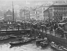 Fishmarket *  Year not stated. Photographer: Knoop - UiB Picture Collection .